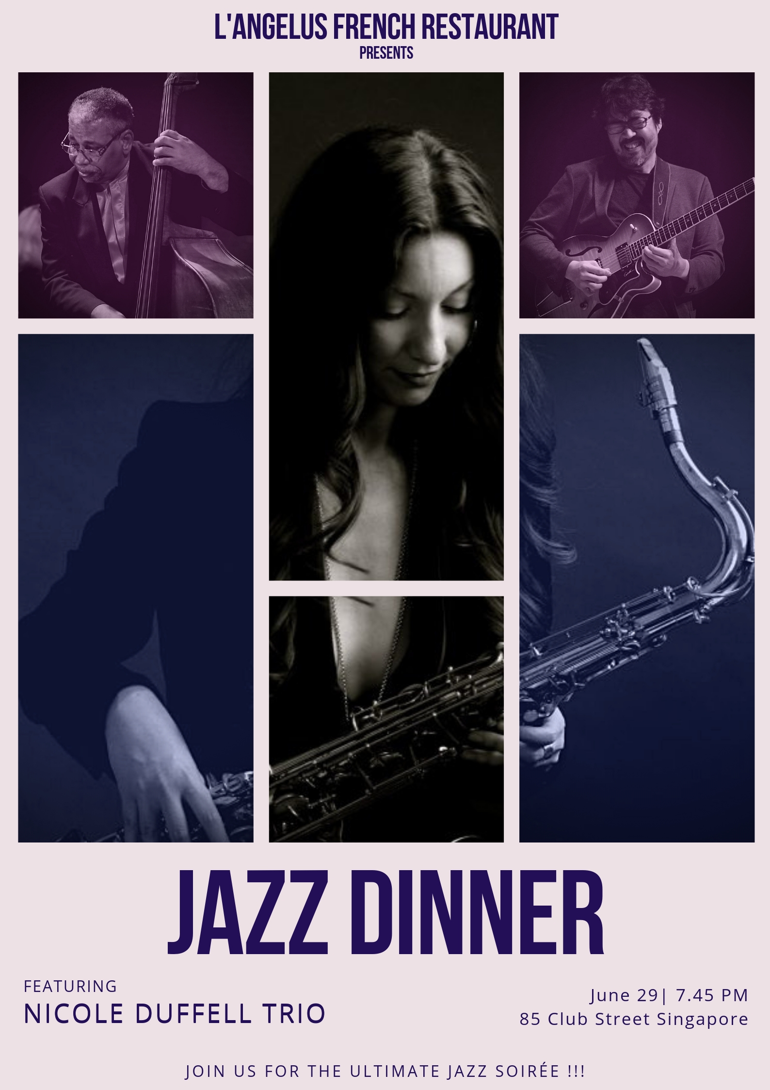 Elegant French Cuisine with Live Groovy Jazz at Club Street